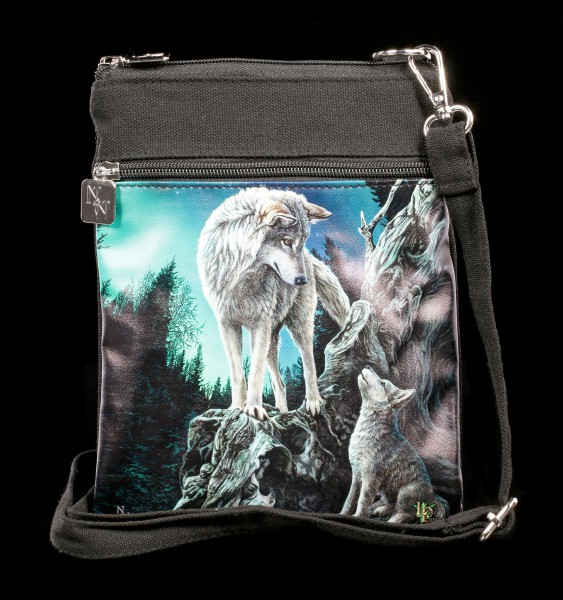 Small Shoulder Bag with Wolves - Guidance