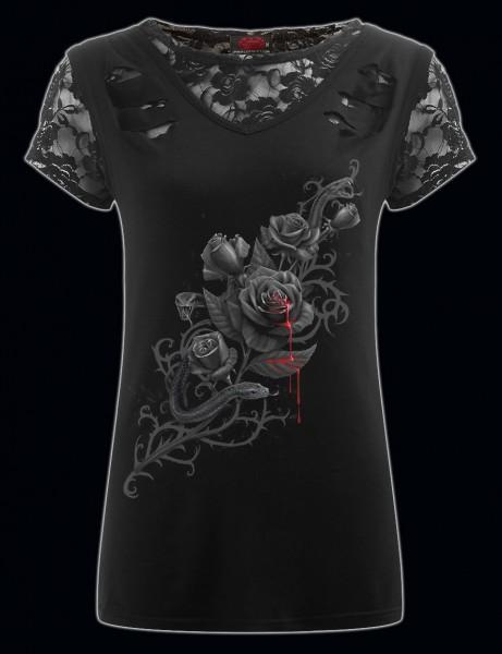 Spiral Gothic Damen Shirt 2in1 - Fatal Attraction