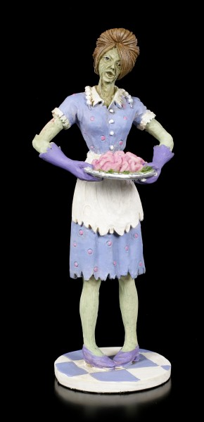 Zombie Figurine - Housewife serves Brain