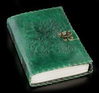 Green Leather Journal with Lock and Greenman