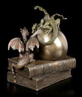 Dragon with Skull on Books