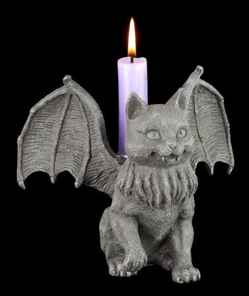 Candle Holder - Bat Cat