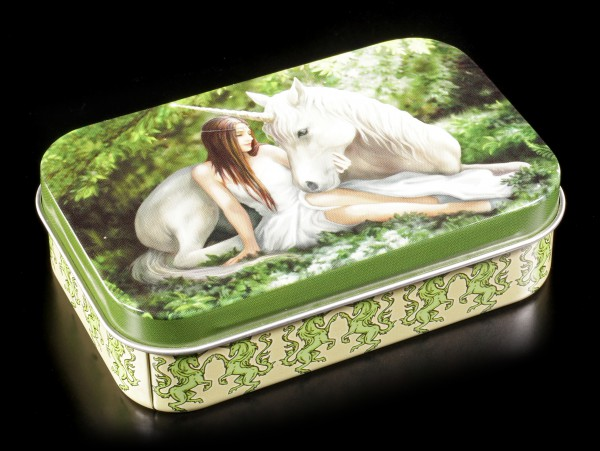 Metall Dose mit Einhorn - Pure Heart by Anne Stokes