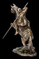 Ritter Figur - Auf Streitpferd mit Lanze