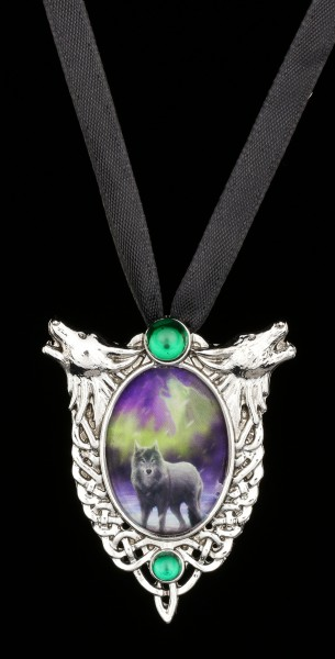Halskette mit Wolf - Aura Wolf