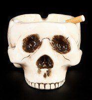 Totenkopf Aschenbecher ohne Schädeldecke