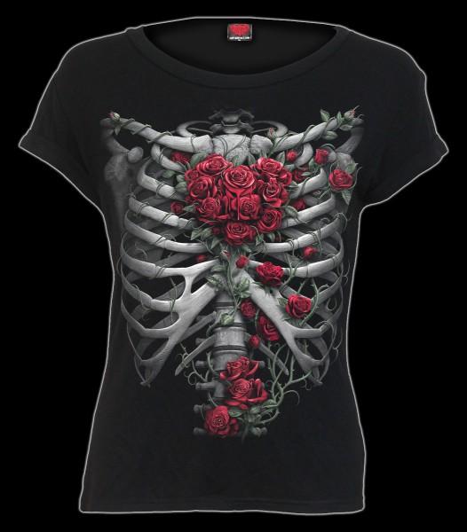 Damen Fantasy Top - Rose Bones