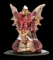 Backflow Incense Holder - Small Red Dragon Head