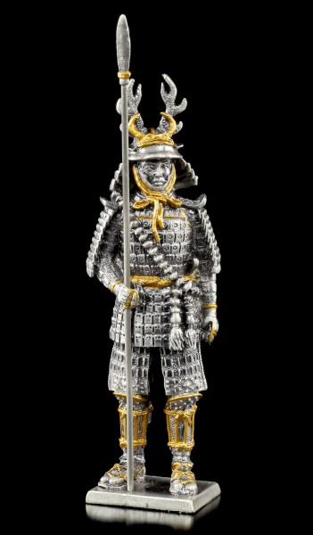 Japanischer Samurai Krieger Fumisato mit Lanze - Zinn Figur