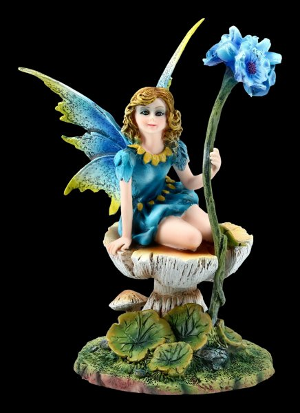 Fairy Figurine - Ilina sitting on Mushroom