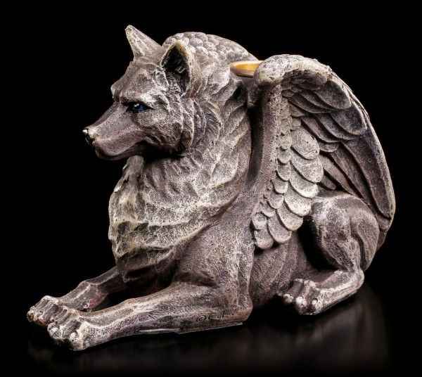 Kerzenhalter - Wolf Gargoyle