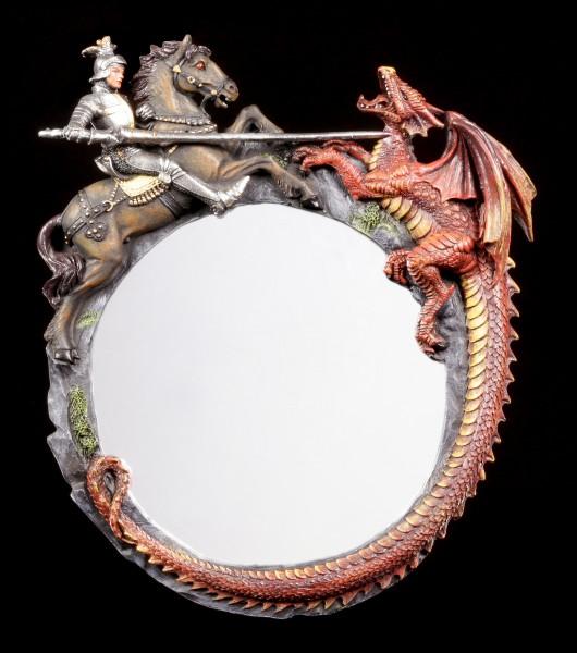 Wandspiegel - Ritter erlegt Drachen
