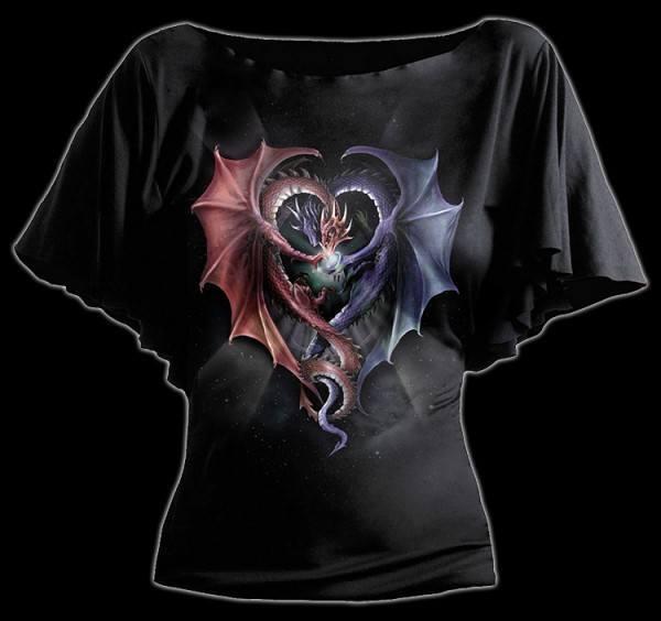 Shirt Damen - Drachen Herz - Dragon Heart
