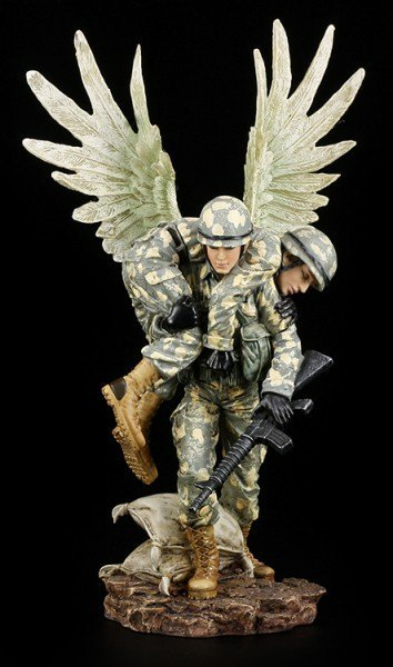 Guardian Angel Figurine - Rescue of Soldier