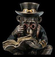Steampunk Chimpanzee Figurine - The Scholar