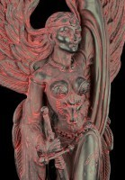 Morrigan Figur - Göttin des Krieges - Schwarz-Rot