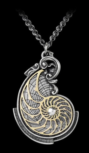 Alchemy Necklace - Fibonacci's Golden Spiral