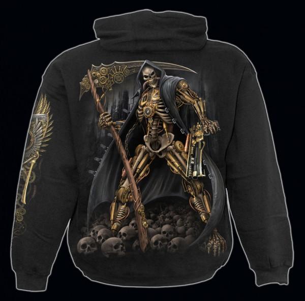 Spiral Gothic Kapuzenpullover - Steampunk Skeleton