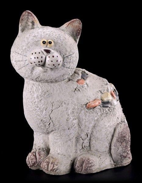Garden Figurine - Cat in Stone Look