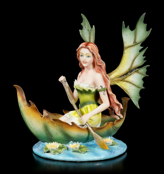 Fairy Figurine - Hiava in a Leaf Boat