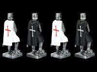 Knight Templar Figurines - Crusaders Set of 4