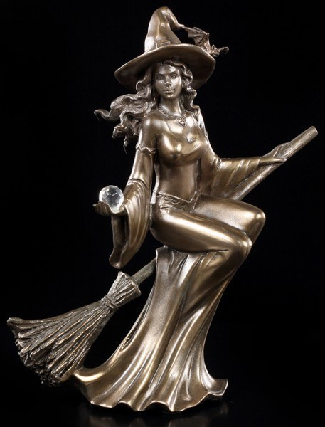 Witch Figurine - Witch Riding a Broom