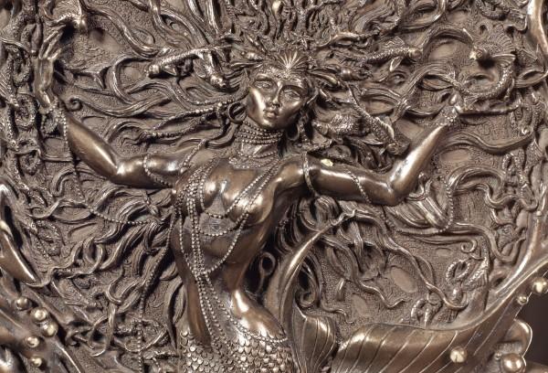 Wandrelief - Keltische Göttin Aine als Meerjungfrau