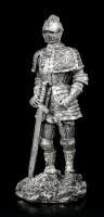 Kleine Ritter Figuren - silberfarben 4er Set