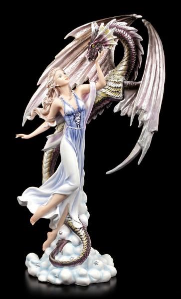Elfen Figur Aldora erhebt sich mit Drachen