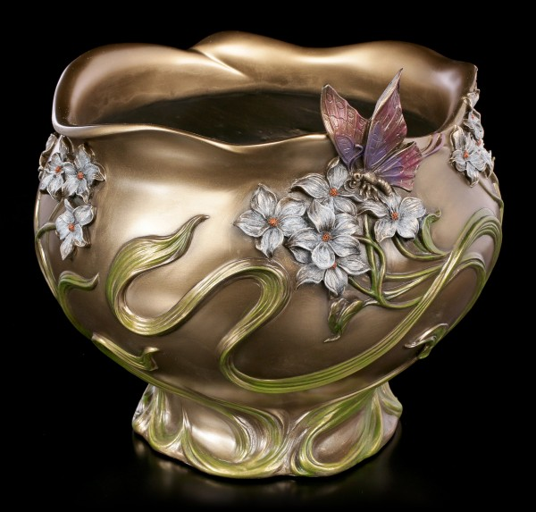 Art Nouveau Flower Pot - Butterfly