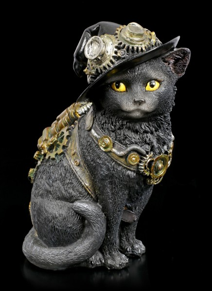 Steampunk Katzen Figur - Clockwork Kitty