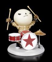 Skelett Figur - Rockstar Lucky am Schlagzeug