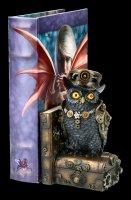 Buchstütze Steampunk Eule - Augmented Wisdom
