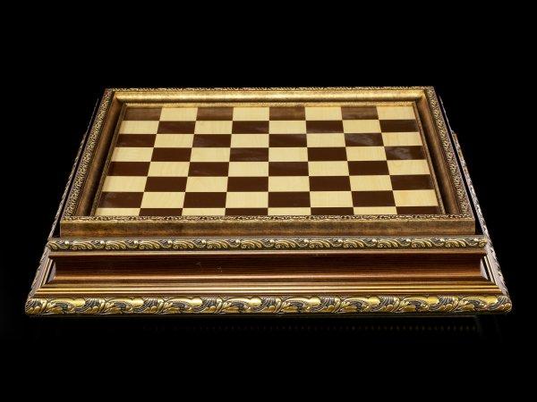Mittelalterliche Schachspiel Box
