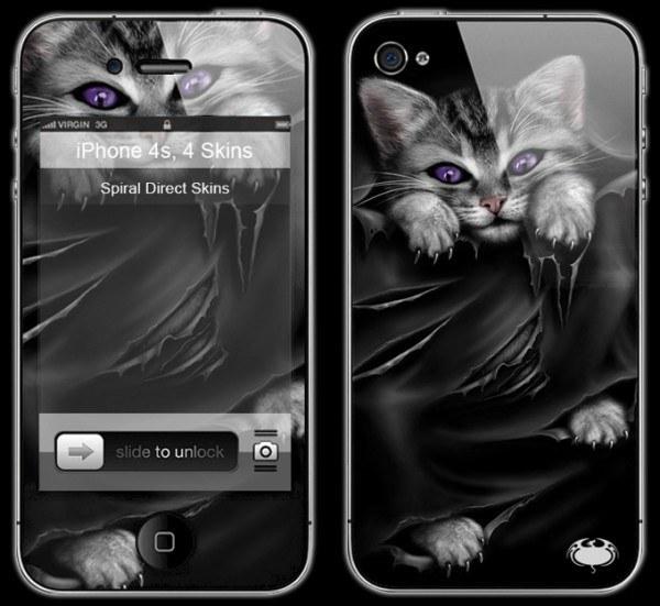 Gothic Katze Smartphone Skin - Bright Eyes