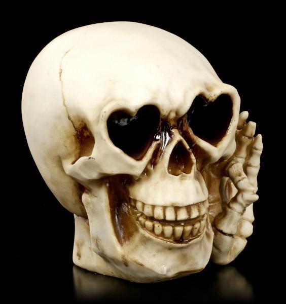 Spardose - Totenkopf mit Herz-Augen