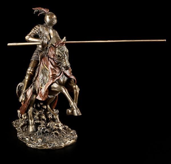 Deutscher Ritter auf Pferd mit Lanze - links