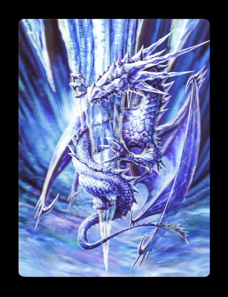 3D Postkarte mit Drache - Ice Dragon by Anne Stokes