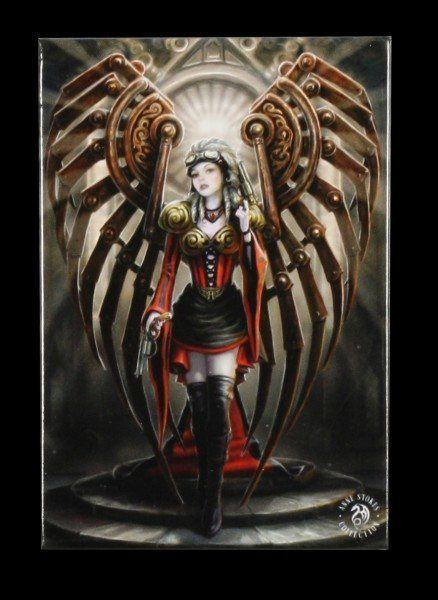 Magnet mit Steampunk Engel - Avenger by Anne Stokes