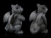Small Dragon Figurines - Black Guards Set of 2