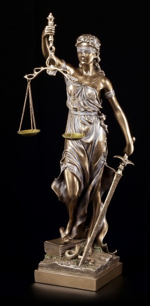 Große Justitia Figur - bronziert