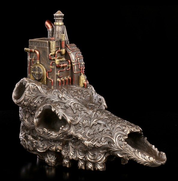 Steampunk Buffalo Skull - Machine
