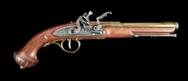 German Flintlock Pistol - brass colored