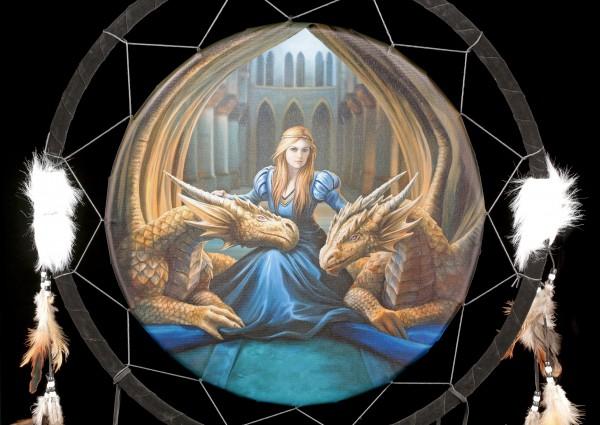 Großer Traumfänger mit Drachen - Fierce Loyalty