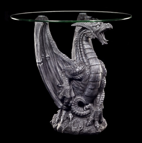Dragon Table with Glass Plate - Dragon Roar