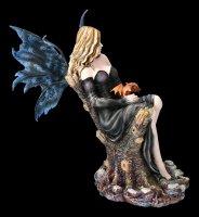 Elfen Figur - Risana mit kleinem Drachen