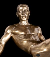 Male Nude Figurine - Sitting with his Leg outstretched