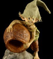 Backflow Incense Cone Burner - Pixie Figurine - Out with it