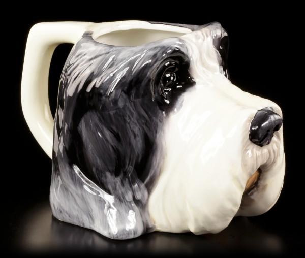 Keramik Tasse - Bearded Collie