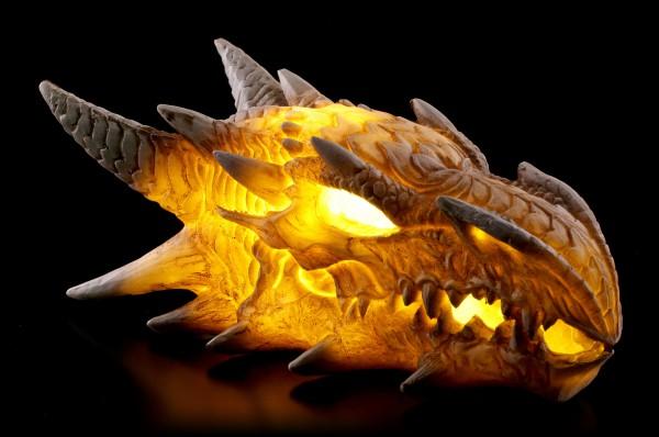 Drachen Totenkopf mit LED Beleuchtung